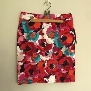 NWT Rafaella petit floral skirt 10P